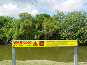Warning sign—Photo Queensland Government.