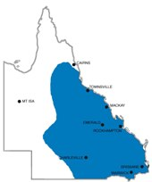 Estimated distribution of koalas in Queensland